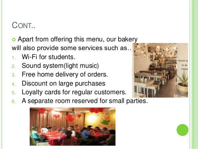 Competitive Products Bakery Cafe Examples