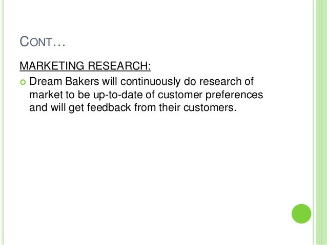 CONT    MARKETING RESEARCH