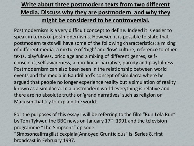 postmodernism run lola run  5