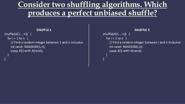 Perfect shuffle code ground