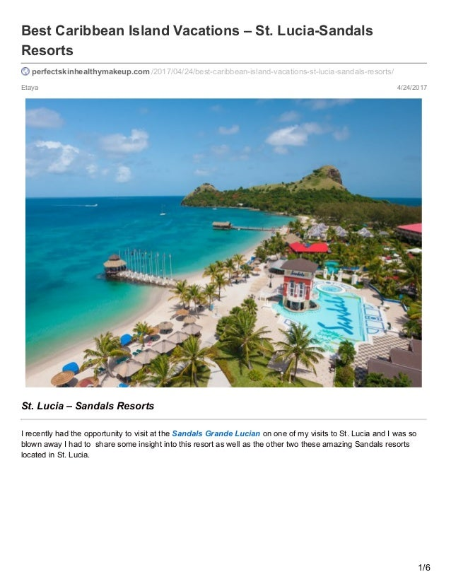 Sandals Resort StLucia Will You Which In Choose POkuTwXZil