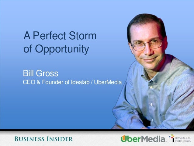 A Perfect Stormof OpportunityBill GrossCEO & Founder of Idealab / UberMedia