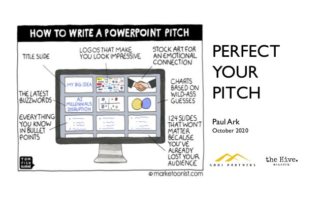 PERFECT YOUR PITCH Paul Ark October 2020