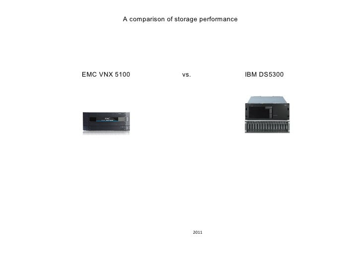 A comparison of storage performanceEMC VNX 5100                vs.                 IBM DS5300                             ...