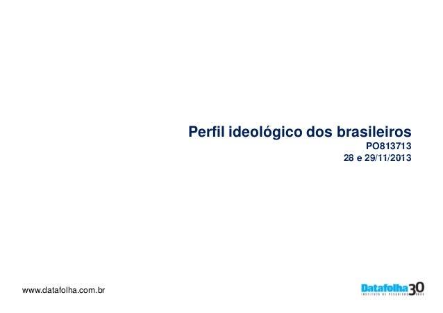 Perfil ideológico dos brasileiros PO813713 28 e 29/11/2013  www.datafolha.com.br www.datafolha.com.br