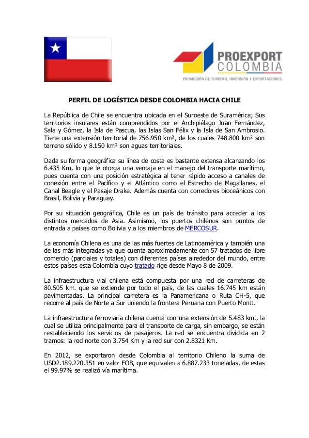 Perfil Logístico de Exportación a Chile