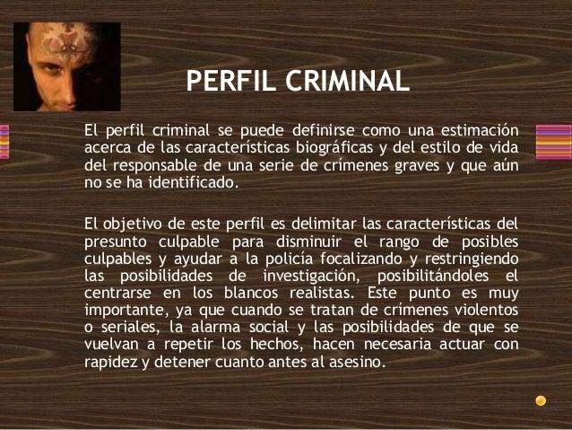 Perfilación criminal