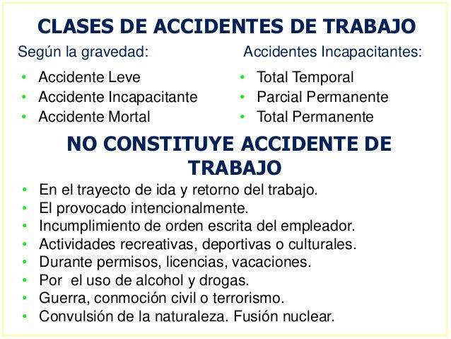 ejemplos de accidentes laborales perfil del prevencionista