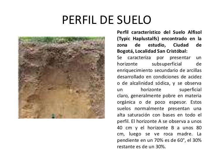 Perfil de suelo for Perfil del suelo wikipedia