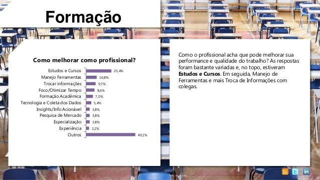 Formação Como o profissional acha que pode melhorar sua performance e qualidade do trabalho? As respostas foram bastante v...