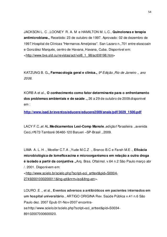 Perfil dos antimirobianos mais utilizados no municpio de vitria bra 54 fandeluxe Images
