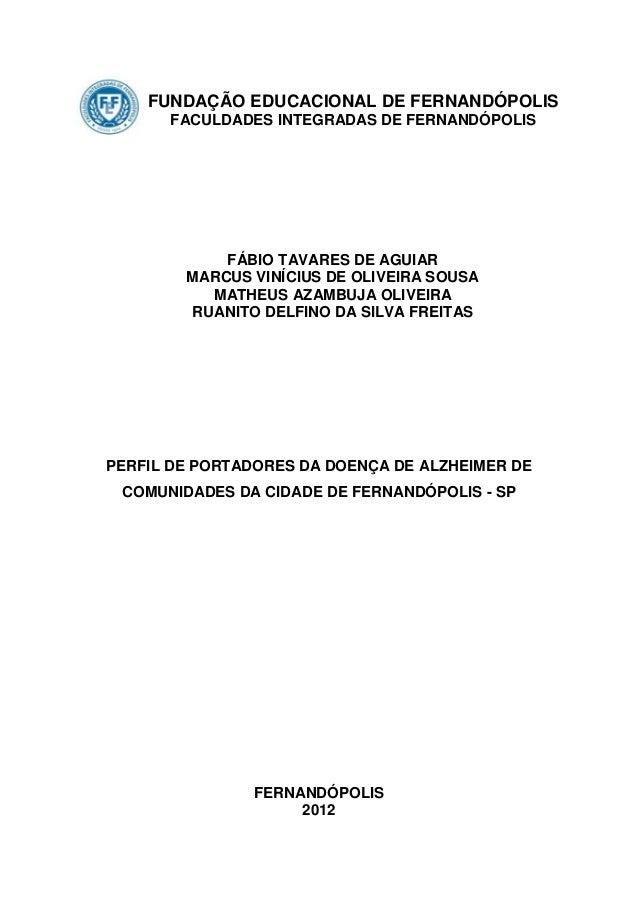 FUNDAÇÃO EDUCACIONAL DE FERNANDÓPOLIS      FACULDADES INTEGRADAS DE FERNANDÓPOLIS            FÁBIO TAVARES DE AGUIAR      ...