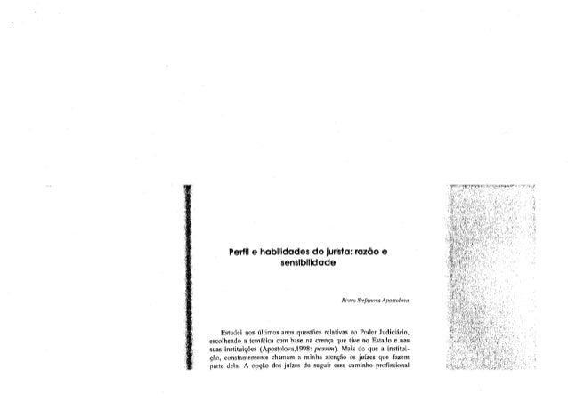 Perfil e habilidades do jurista  razão e sensibilidade - bistra stefanova