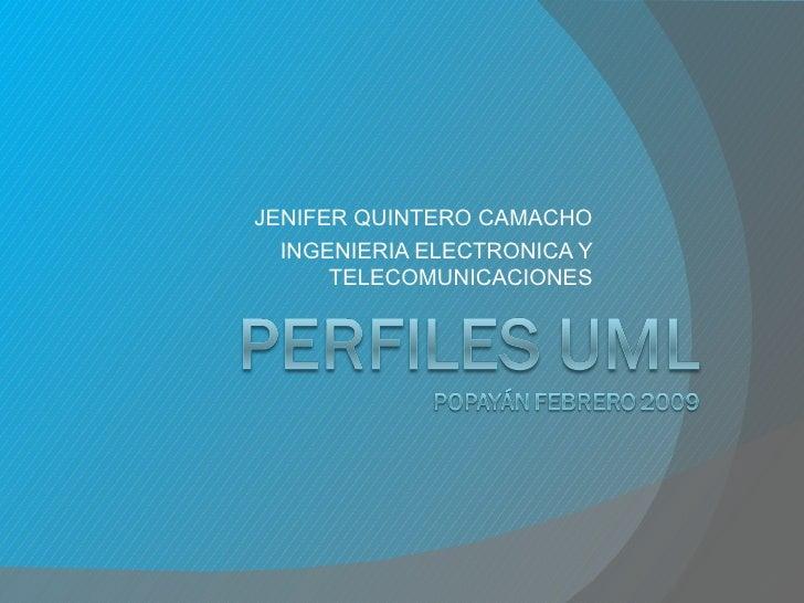JENIFER QUINTERO CAMACHO INGENIERIA ELECTRONICA Y TELECOMUNICACIONES