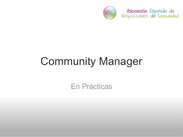 Community Manager En Prácticas