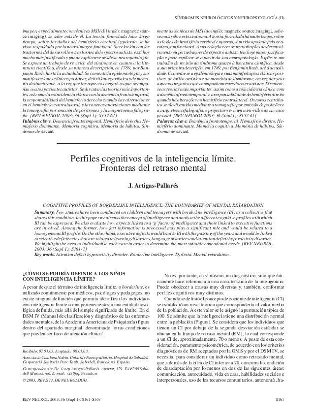 SÍNDROMES NEUROLÓGICOS Y NEUROPSICOLOGÍA (II)imagen, especialmente con técnicas MSI (del inglés, magnetic sour-           ...