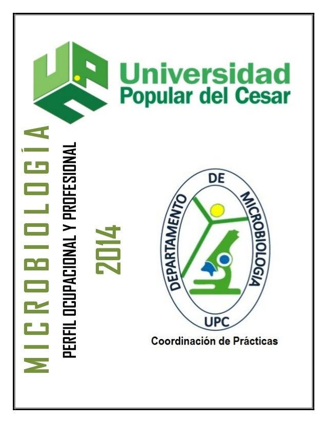 2014  PERFIL OCUPACIONAL Y PROFESIONAL  MICROBIOLOGÍA