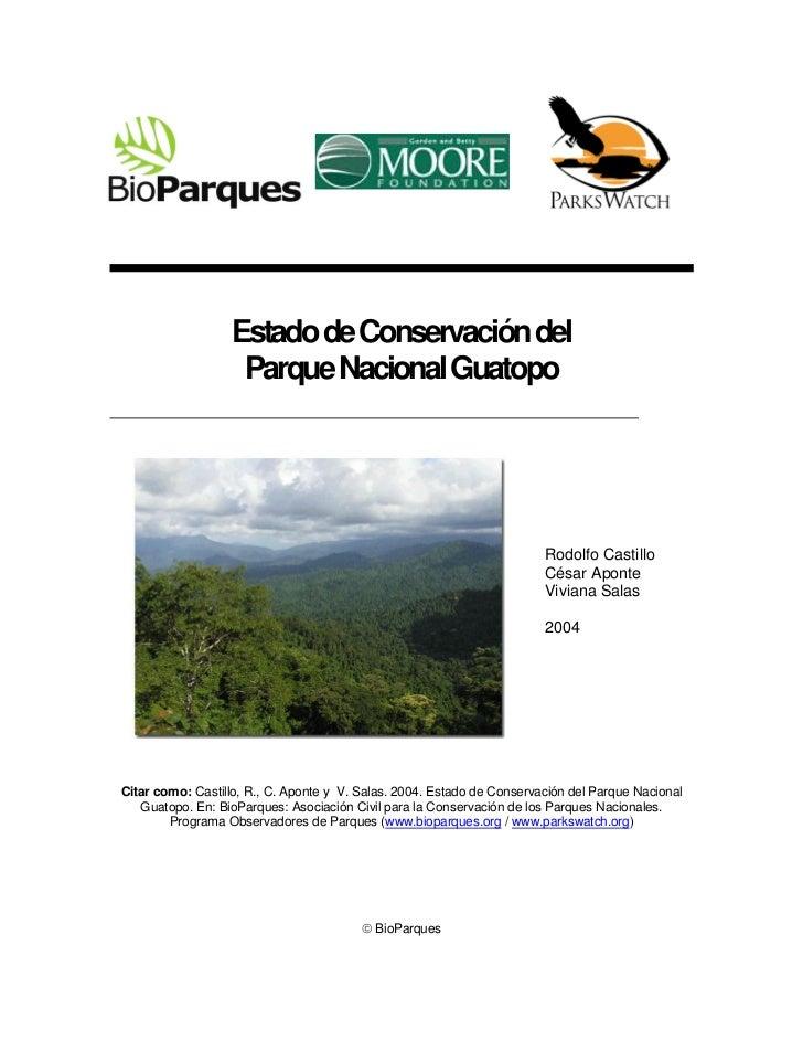 Estado de Conservación del                   Parque Nacional Guatopo                                                      ...