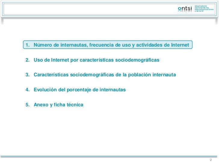 Perfil sociodemográfico de los internautas. Análisis de datos INE 2011 (ONTSI) -EN12 Slide 2