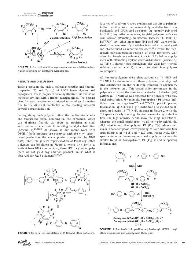Perfluorocyclohexenyl Aryl Ether Polymers Via