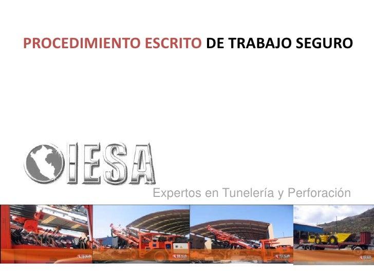 PROCEDIMIENTO ESCRITO DE TRABAJO SEGURO               Expertos en Tunelería y Perforación