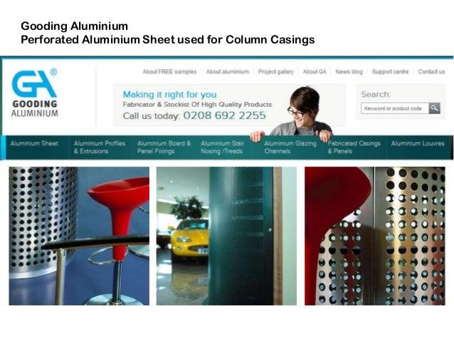 Gooding Aluminium Perforated Aluminium Sheet used for Column Casings