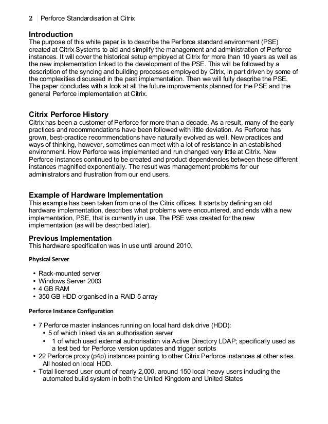 [Citrix] Perforce Standardisation at Citrix Slide 2