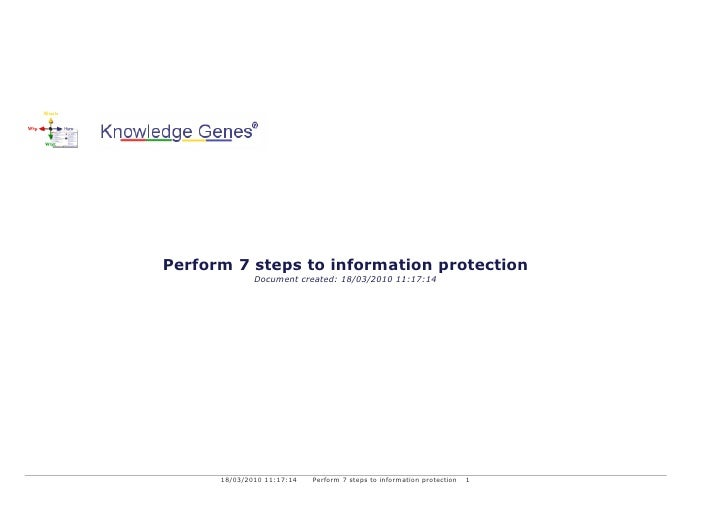 Perform 7 steps to information protection               Document created: 18/03/2010 11:17:14           18/03/2010 11:17:1...