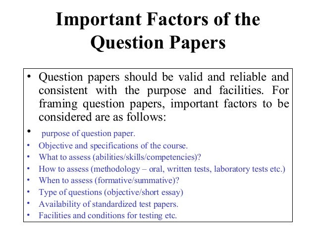 Question paper setting malvernweather Images
