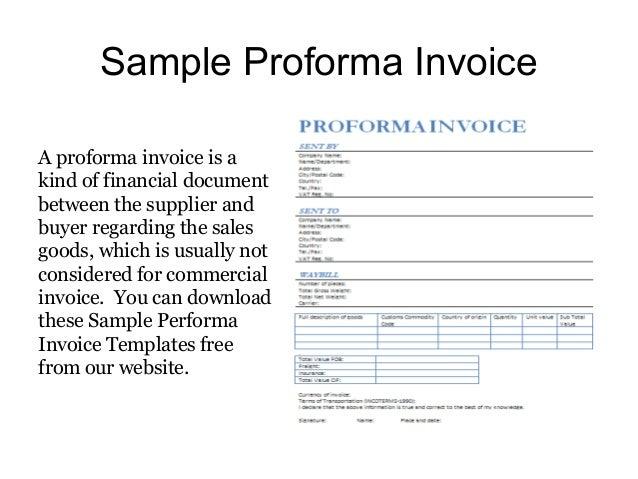 sample of a proforma invoice