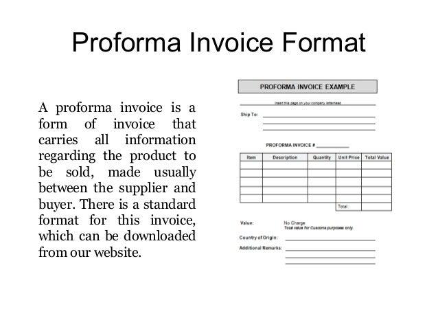 Proforma Invoice Format ...  Proforma Invoice Samples