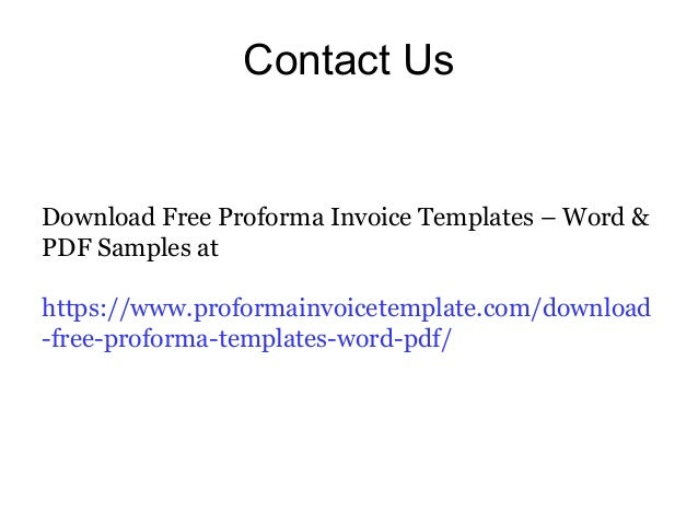 a standard proforma invoice template can be downloaded from 7