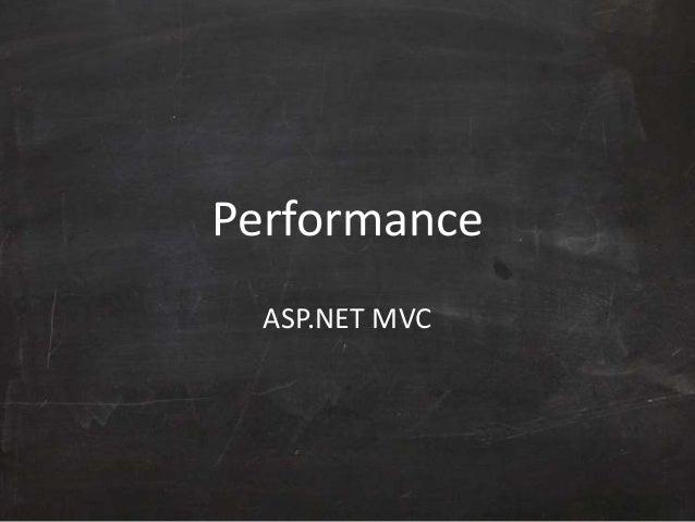 Performance ASP.NET MVC