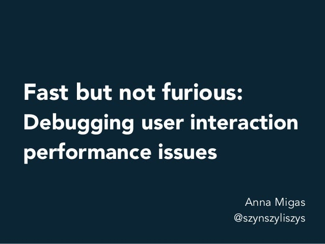 Performance.now()   fast but not furious Slide 2
