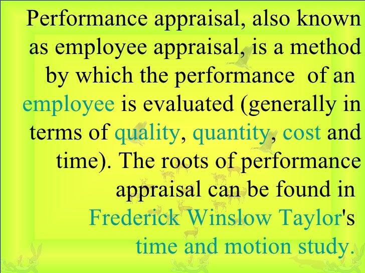 Performance Appraisal Slide 2