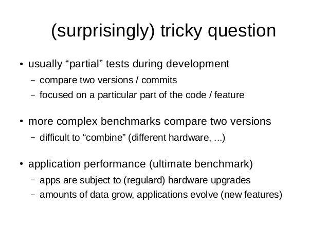 PostgreSQL performance archaeology Slide 3