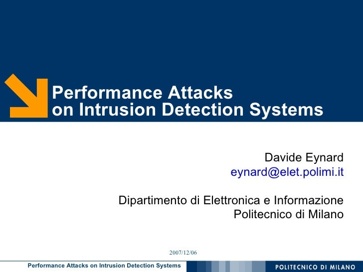 Performance Attacks        on Intrusion Detection Systems                                                                 ...