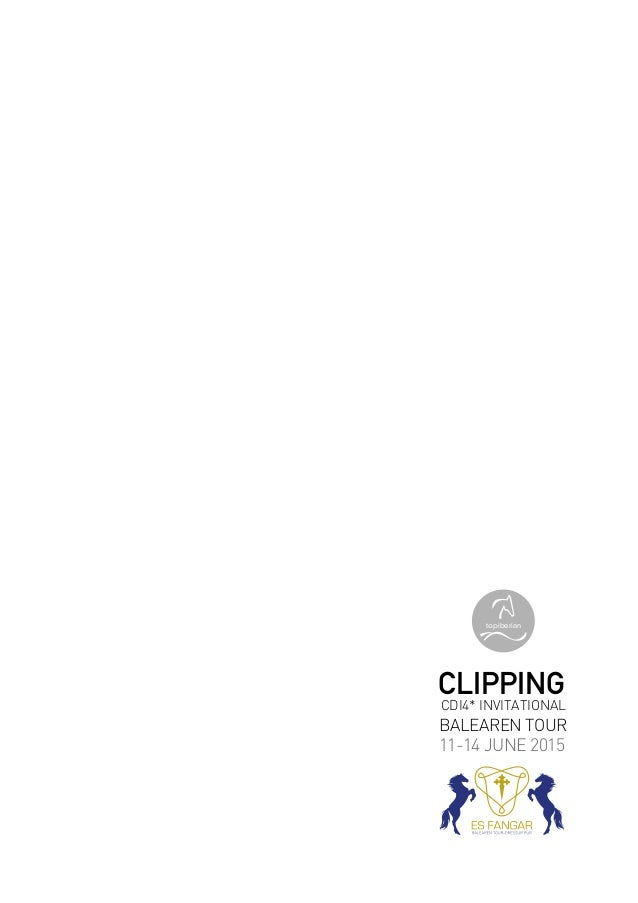 CDI4* INVITATIONAL BALEAREN TOUR CLIPPING 11-14 JUNE 2015 topiberian