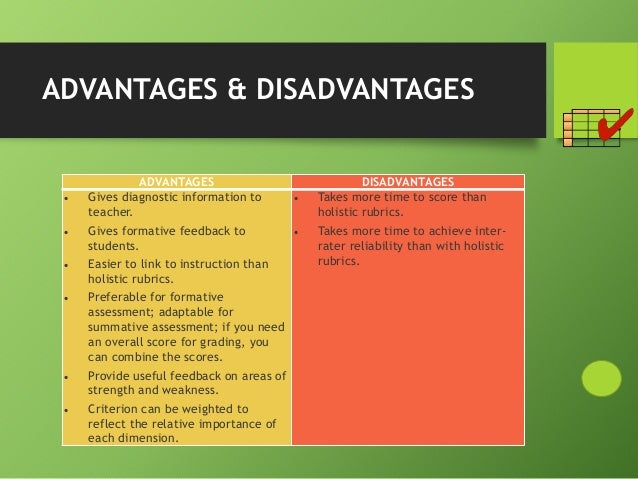 advantages and disadvantages of examination Aims: to write an essay on the advantages and disadvantages of using  for this  part of the exam, they have to write an essay of between 150–180 words.