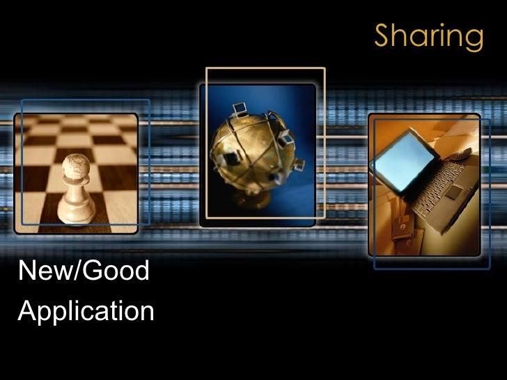Sharing New/Good Application