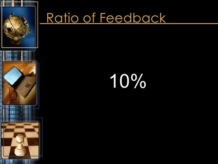 Ratio of Feedback <ul><li>10% </li></ul>