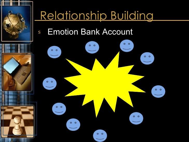Relationship Building <ul><li>Emotion Bank Account </li></ul>