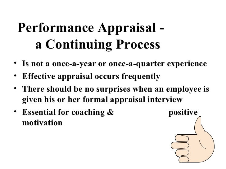 Performance Appraisal   A Continuing Process ...