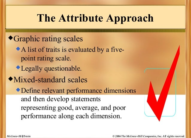 The Attribute Approach Graphic  rating scales  A  list of traits is evaluated by a fivepoint rating scale.  Legally que...