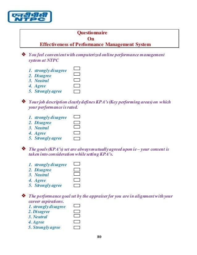 performance management system questionnaire pdf