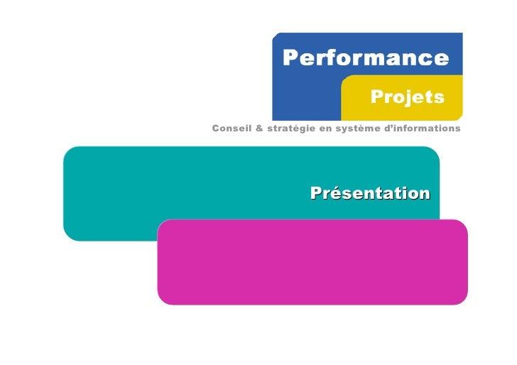 Conseil & stratégie en système d'informations                      Présentation
