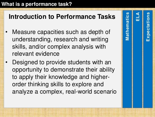 sbac-performance-task-overview-12-638 Overview Of Performance Tasks Example on example of constructed response, example of geometry, example of test, example of rate, example of skills, example of collaborative learning, example of holistic scoring, example of standards, example of literary luminary, example of vocabulary, example of project, example of technology, example of interview, example of problem solving, example of activity, example of multiple intelligences, example of bloom's taxonomy, example of iep, example of critical thinking, example of validity,