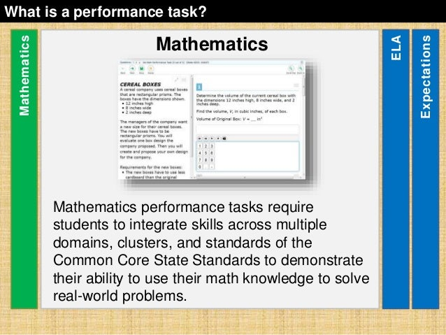 sbac-performance-task-overview-14-638 Overview Of Performance Tasks Example on example of constructed response, example of geometry, example of test, example of rate, example of skills, example of collaborative learning, example of holistic scoring, example of standards, example of literary luminary, example of vocabulary, example of project, example of technology, example of interview, example of problem solving, example of activity, example of multiple intelligences, example of bloom's taxonomy, example of iep, example of critical thinking, example of validity,
