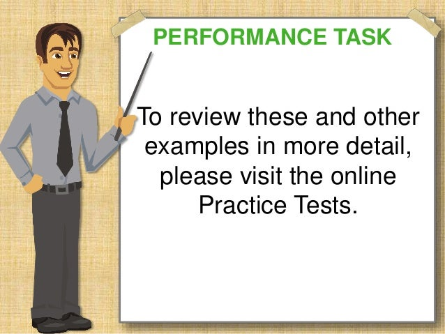 sbac-performance-task-overview-26-638 Overview Of Performance Tasks Example on example of constructed response, example of geometry, example of test, example of rate, example of skills, example of collaborative learning, example of holistic scoring, example of standards, example of literary luminary, example of vocabulary, example of project, example of technology, example of interview, example of problem solving, example of activity, example of multiple intelligences, example of bloom's taxonomy, example of iep, example of critical thinking, example of validity,