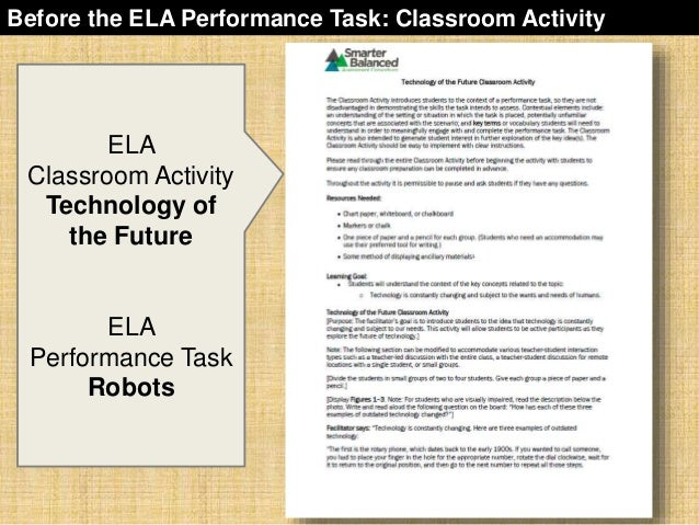 sbac-performance-task-overview-27-638 Overview Of Performance Tasks Example on example of constructed response, example of geometry, example of test, example of rate, example of skills, example of collaborative learning, example of holistic scoring, example of standards, example of literary luminary, example of vocabulary, example of project, example of technology, example of interview, example of problem solving, example of activity, example of multiple intelligences, example of bloom's taxonomy, example of iep, example of critical thinking, example of validity,